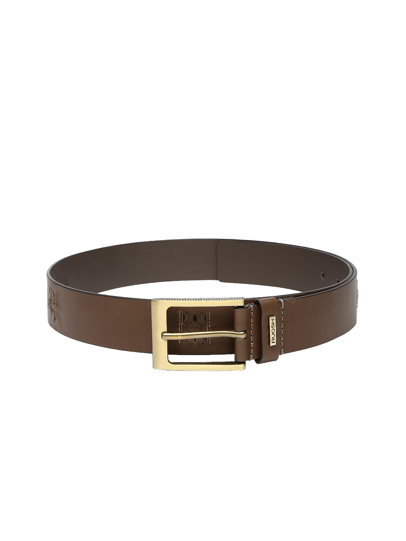 Ruosh Men Brown Leather Belt