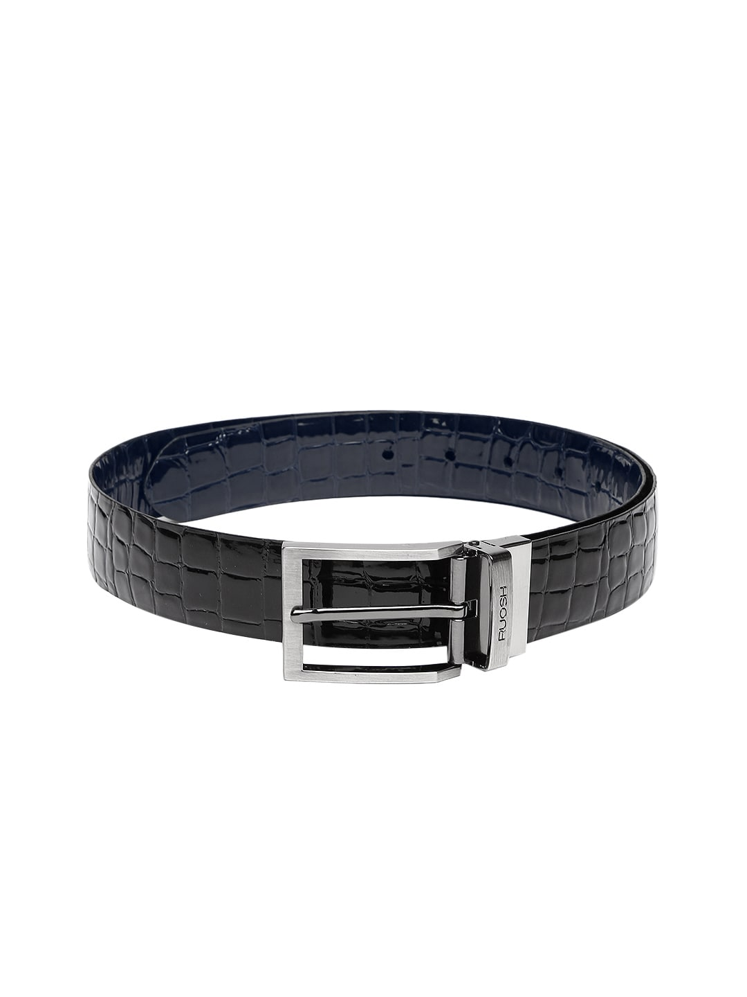 Ruosh Men Blue & Black Reversible Leather Belt