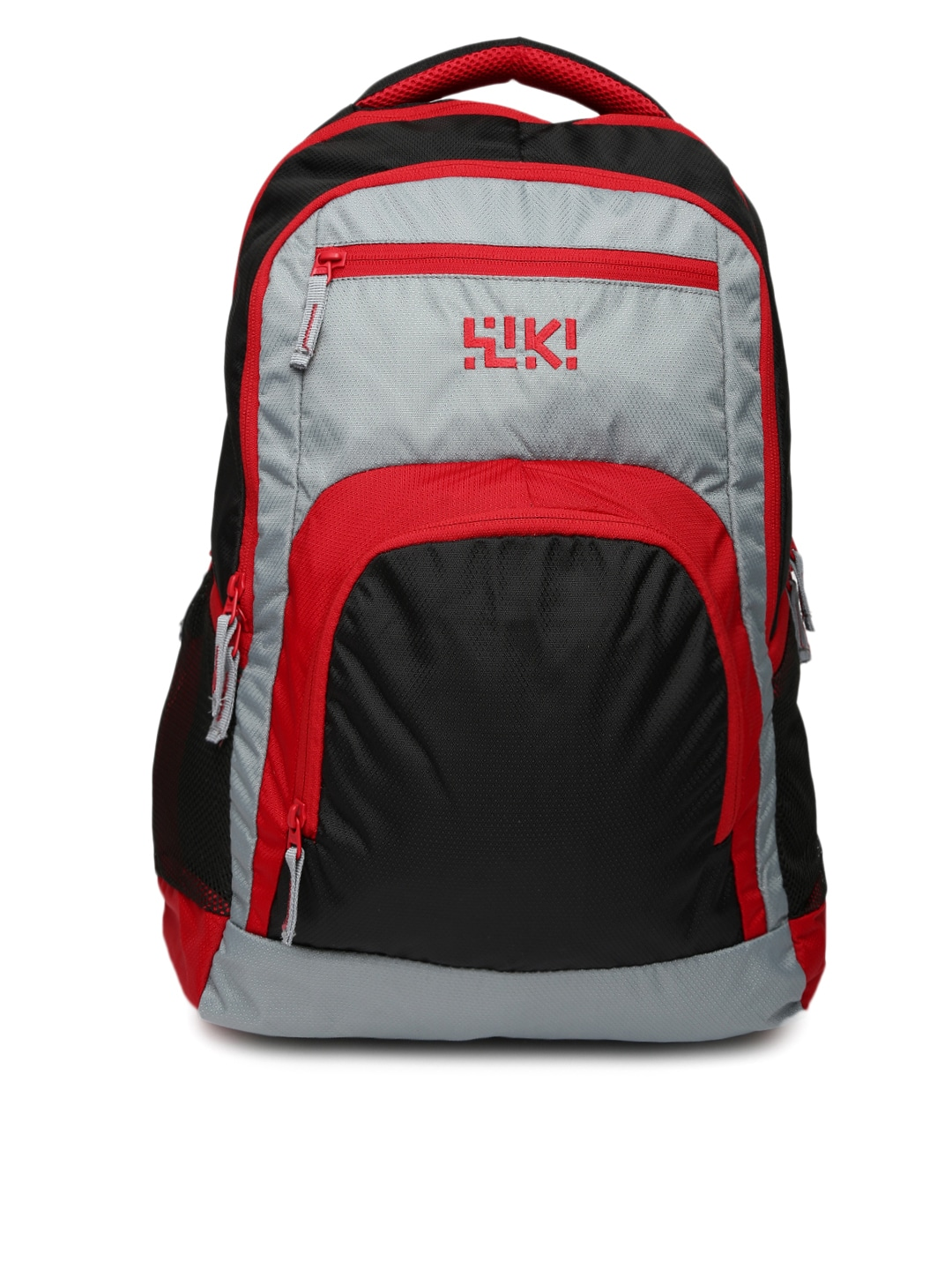Wiki by Wildcraft Unisex Black & Red Backpack