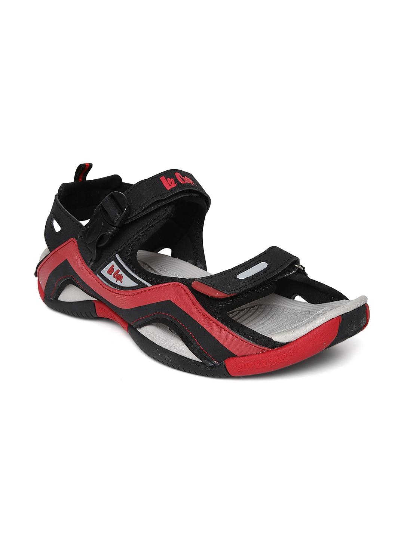 Lee Cooper Men Black & Red Sports Sandals