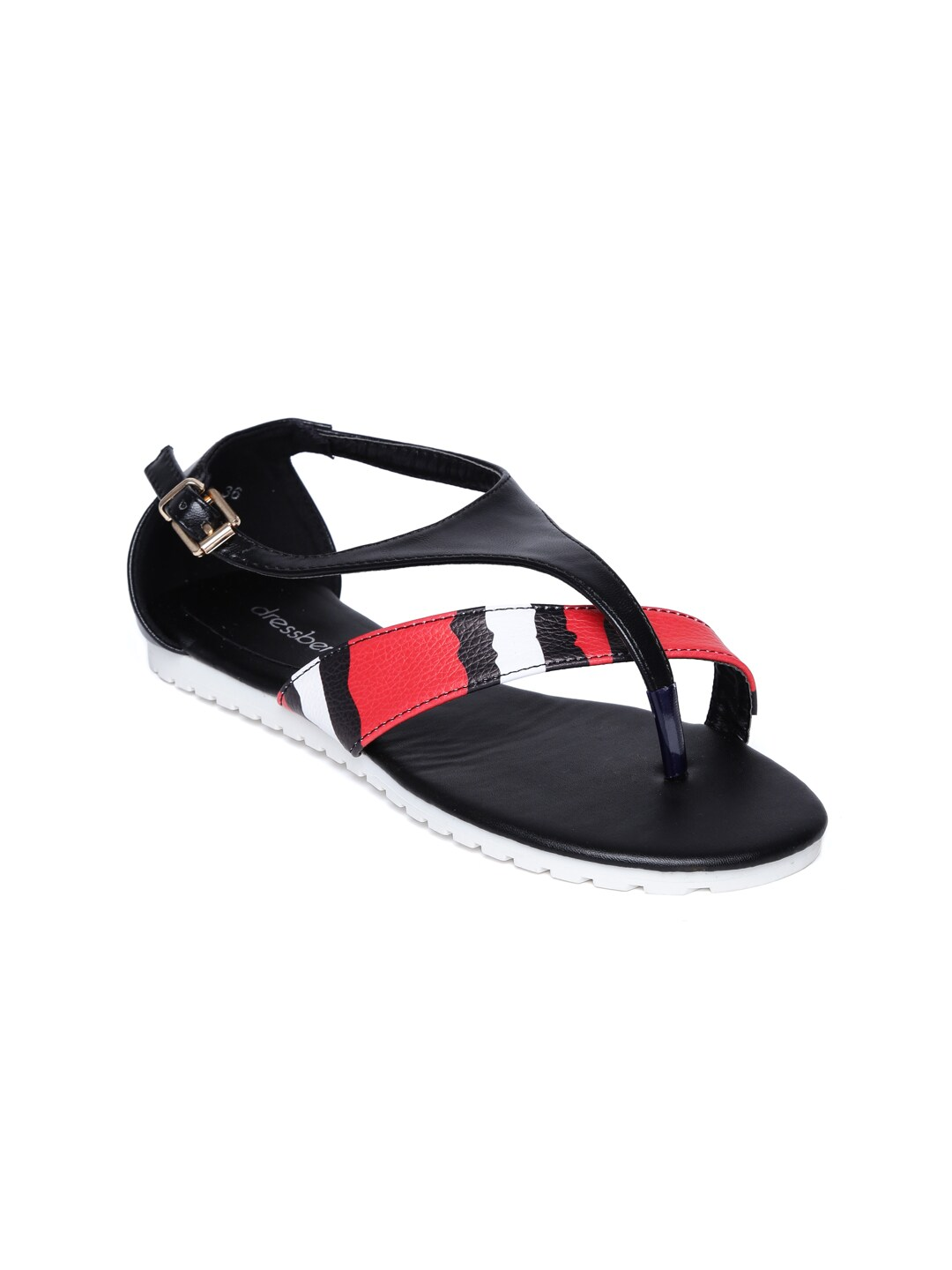DressBerry Women Black Sandals