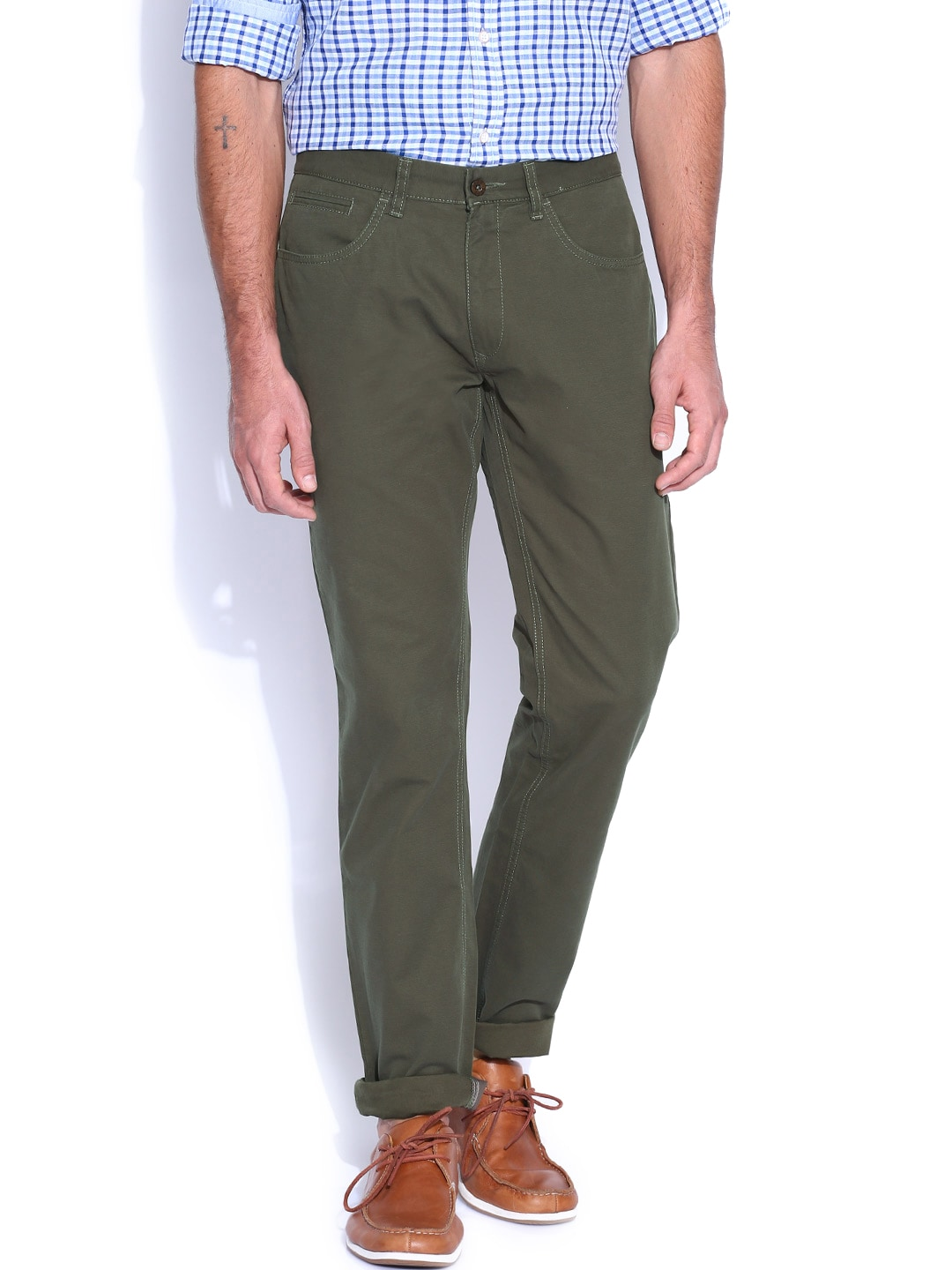 IZOD Olive Green Chino Trousers