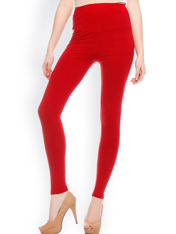 ef4695365b879b Red Leggings - Buy Red Leggings Online in India