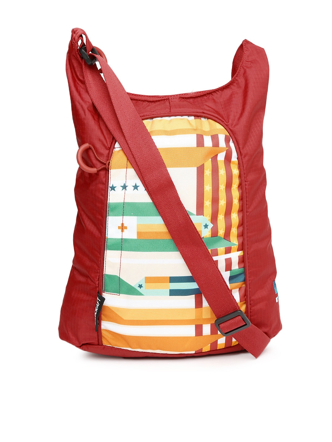 Wiki by Wildcraft Red Printed Sling Bag
