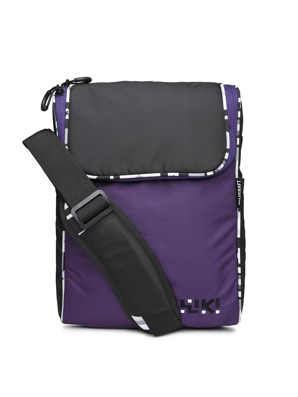 Wiki by Wildcraft Purple & Black Sling Bag