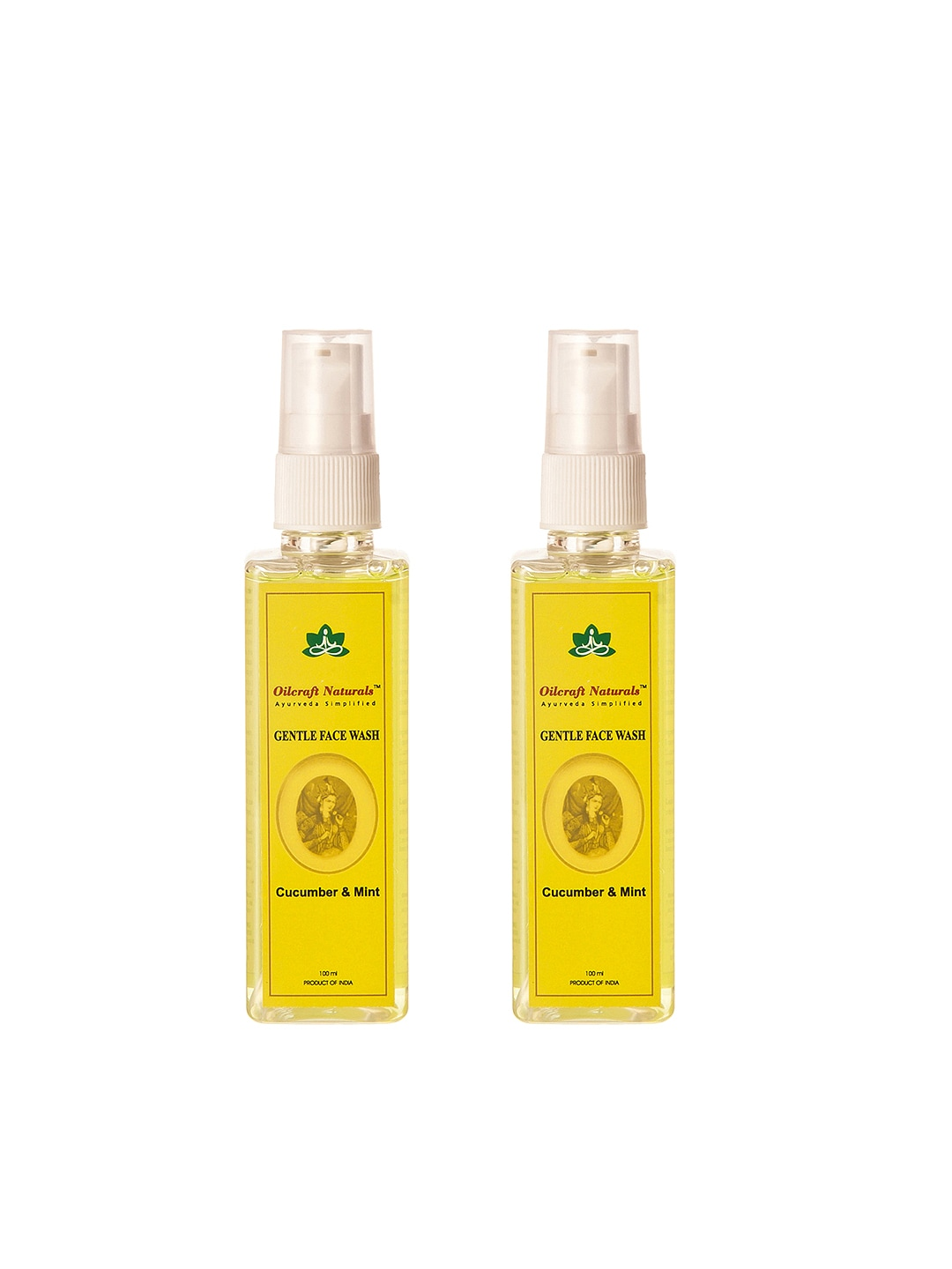 Oilcraft Naturals Cucumber and Mint Set of 2 Gentle Face Wash