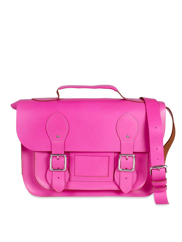 VIARI Pink Berkeley Leather Satchel