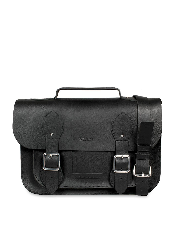 VIARI Black Leather Satchel