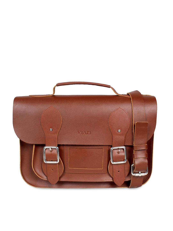VIARI Tan Brown Leather Satchel