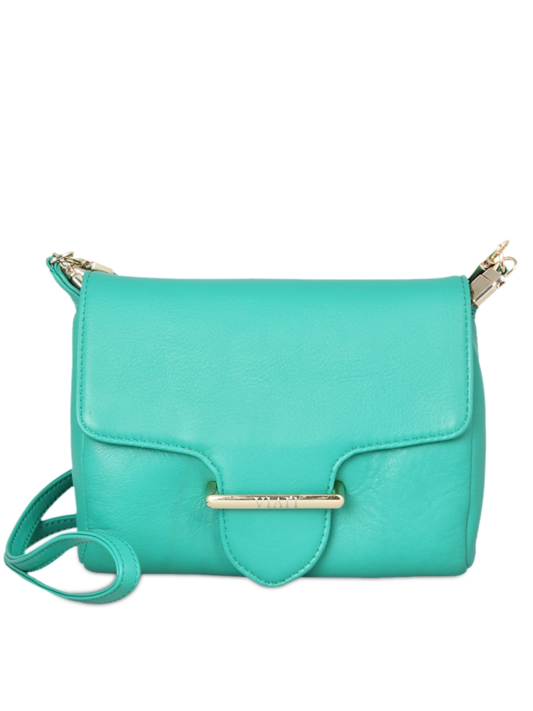 VIARI Sea Green CANNES Leather Sling Bag