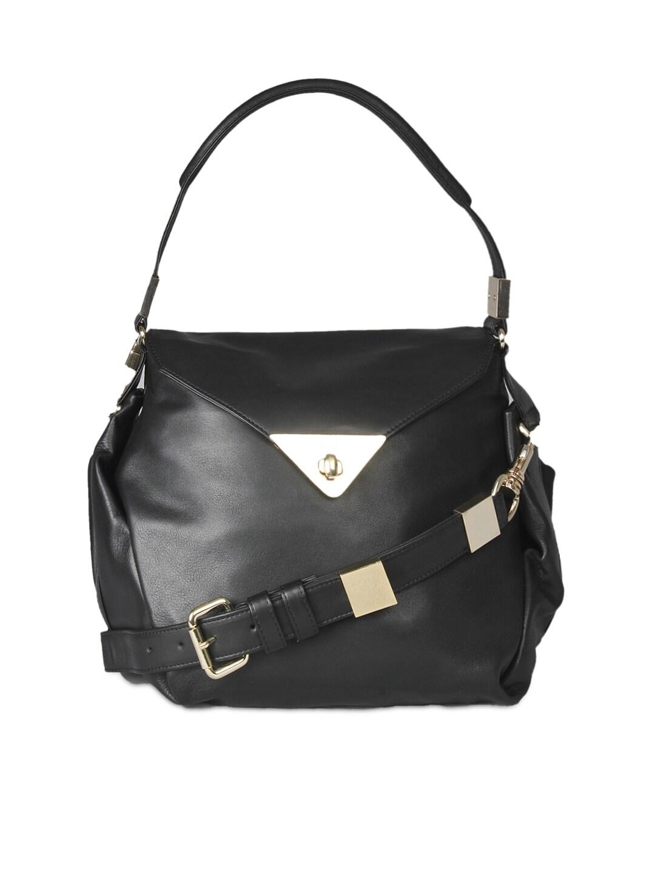 VIARI Black CANNES Leather Shoulder Bag