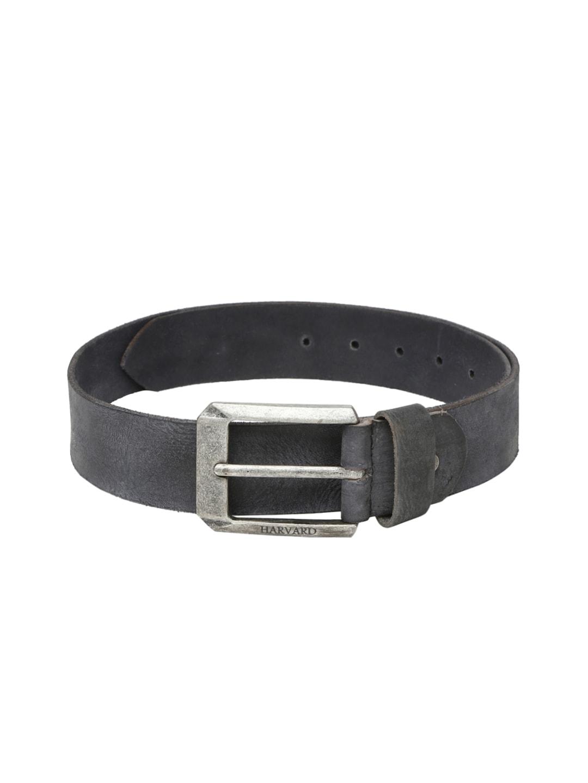 HARVARD Men Grey Leather Belt