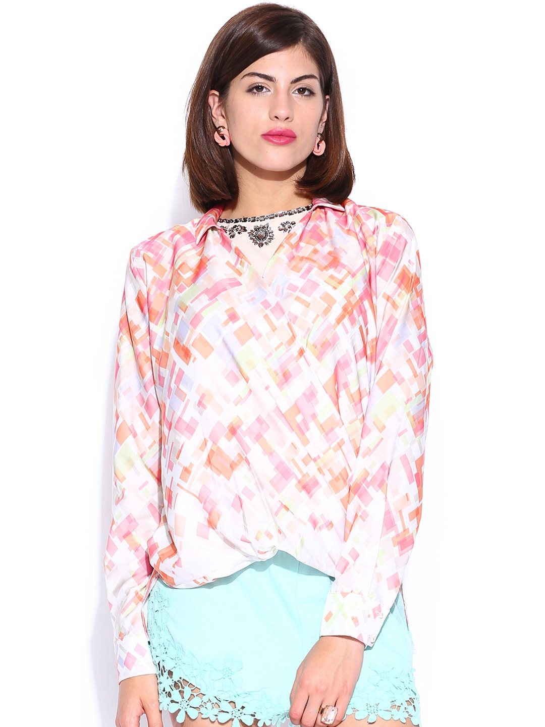 GAS Multicoloured Printed Top