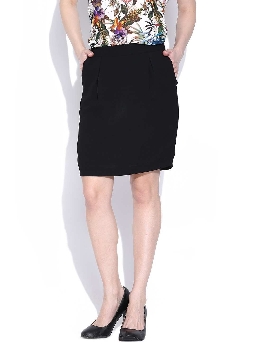 Van Heusen Woman Black Pencil Skirt