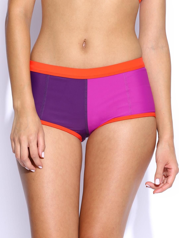 Roxy Purple & Magenta Swim Shorts 888256801905