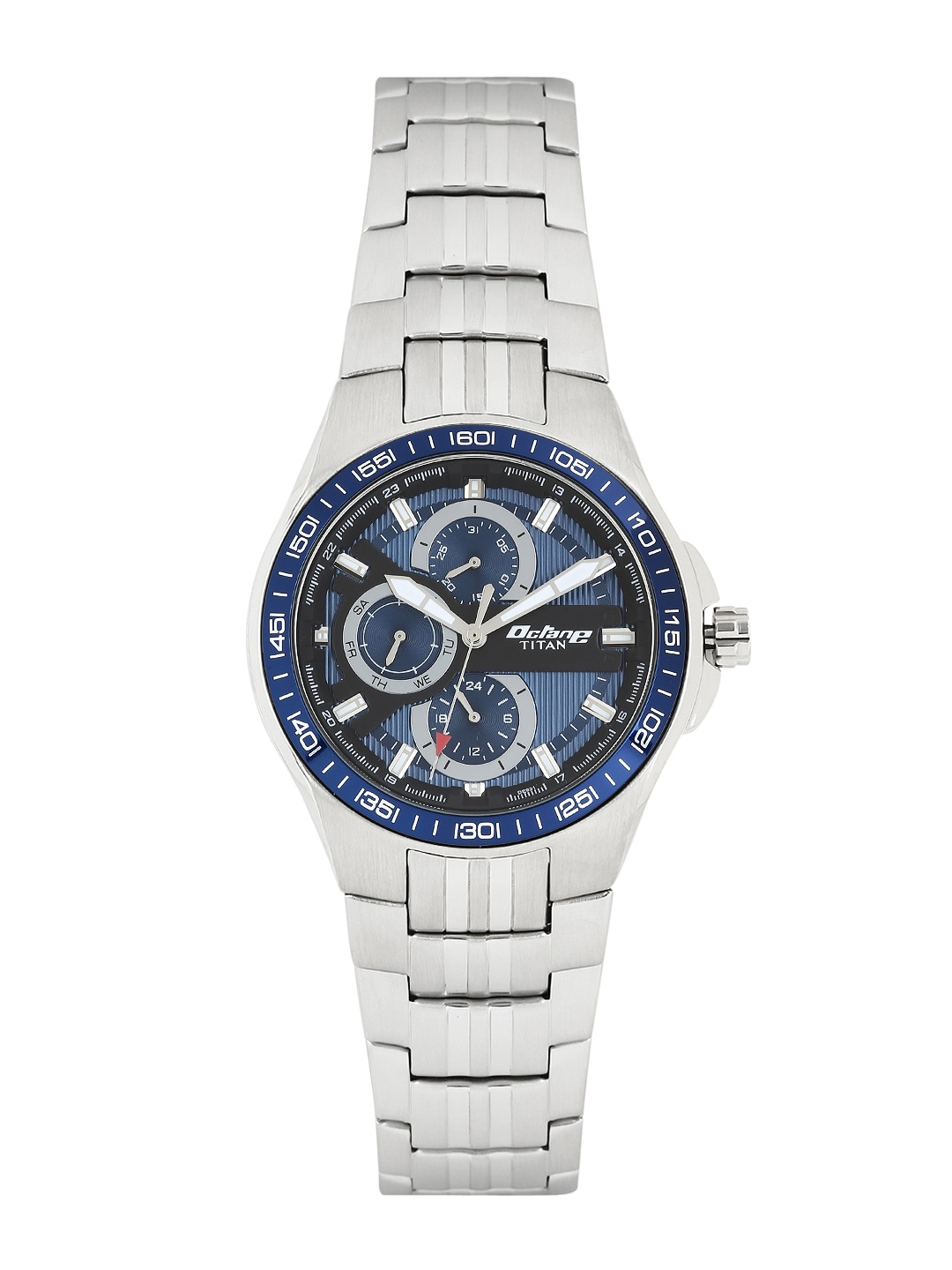 Octane by Titan Men Blue Dial Watch 90041KM02