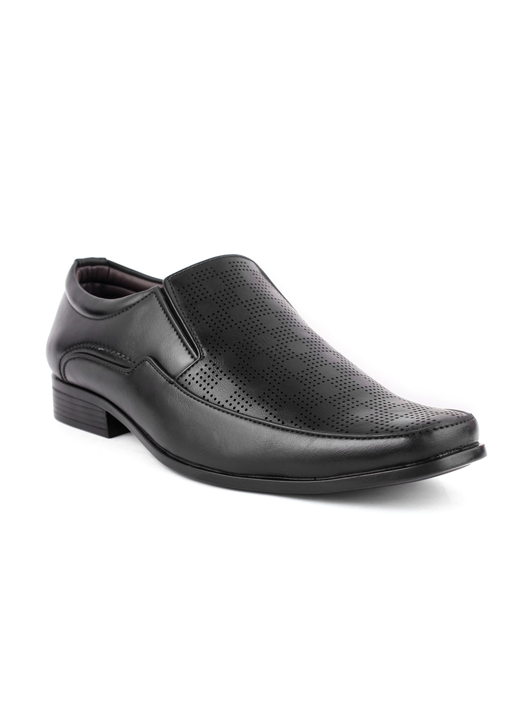 Guava Men Black Formal Shoes