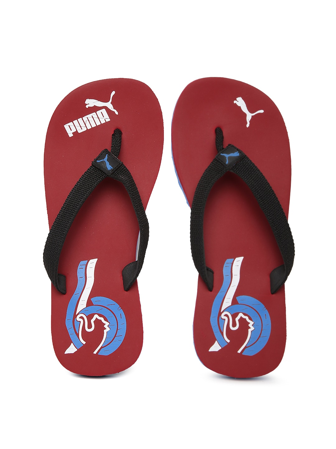 PUMA Men Black & Red Wave II DP Flip-Flops