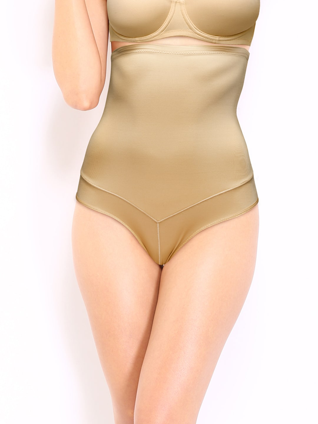 Enamor Hour Glass Skin-Coloured Polyamide Hi-Waist Slimmer BR05