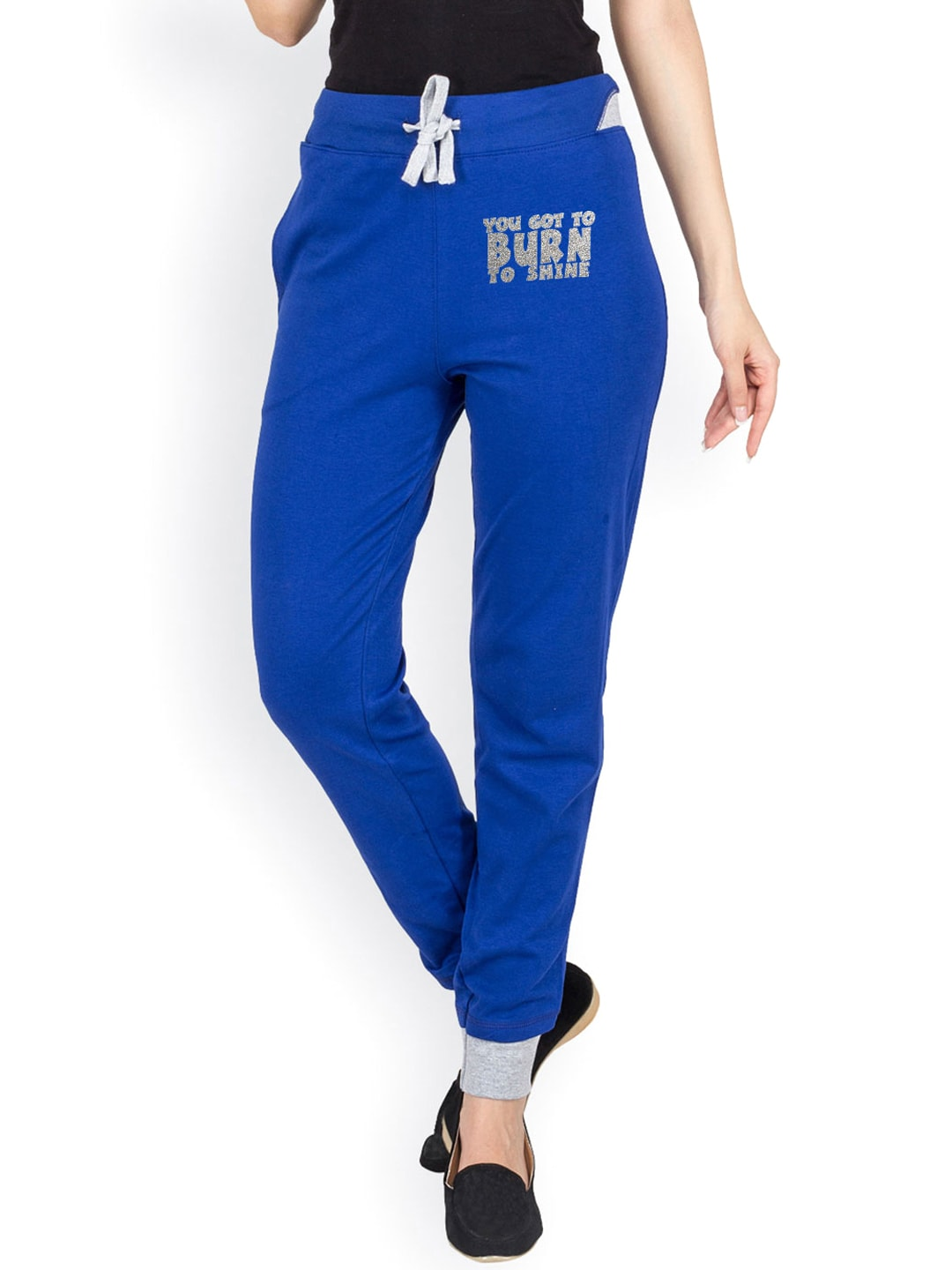 Campus Sutra Women Blue Track Pants