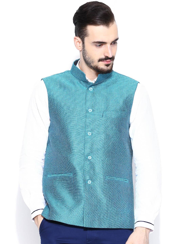 Four One Oh Blue Nehru Jacket