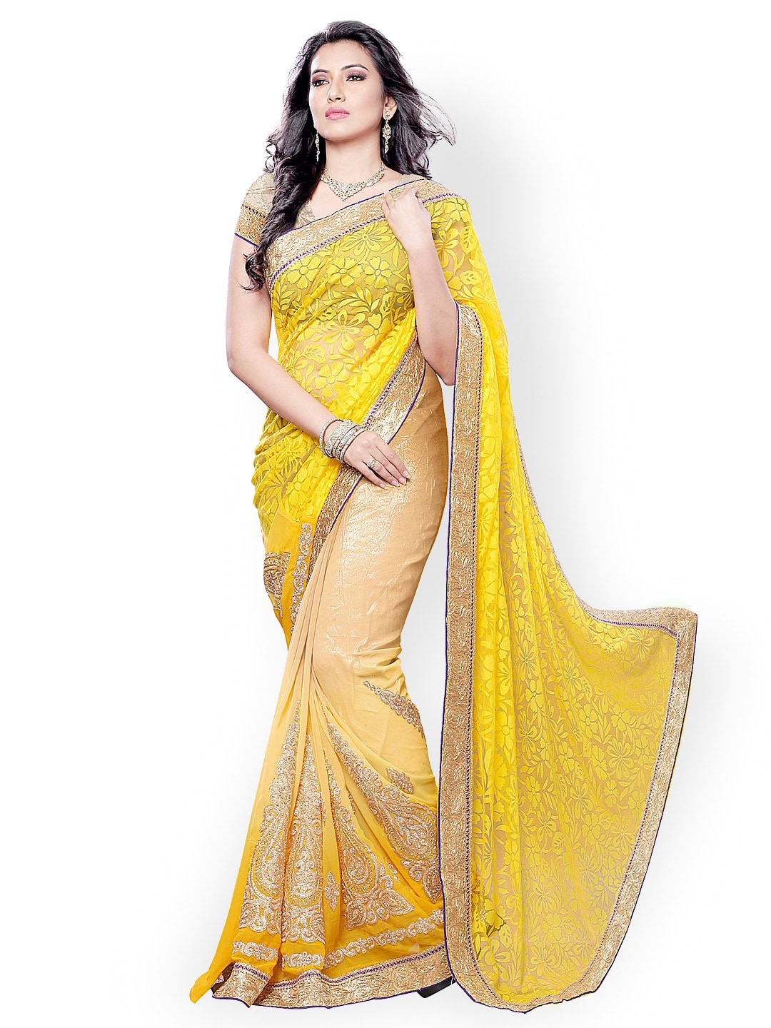 bb82e8fb4adb6a Embroidered Sarees - Buy Designer Embroidery Saree Online