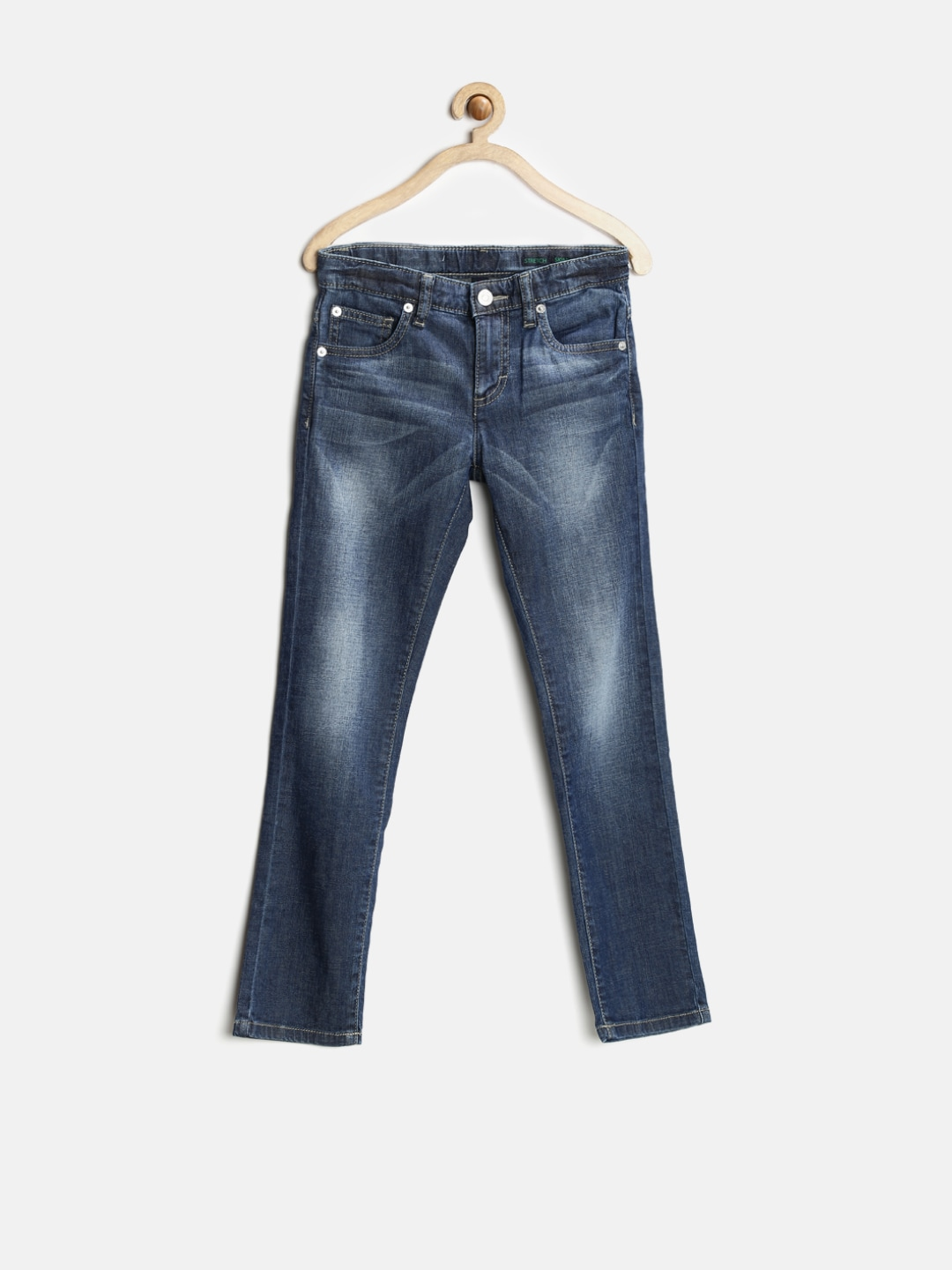 United Colors of Benetton Boys Blue Skinny Stretch Jeans