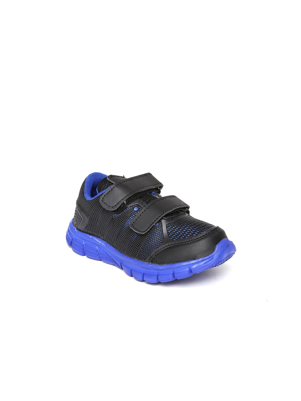 Kittens Boys Black & Blue Casual Shoes