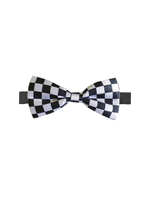 Blacksmith Black & White Checked Bowtie