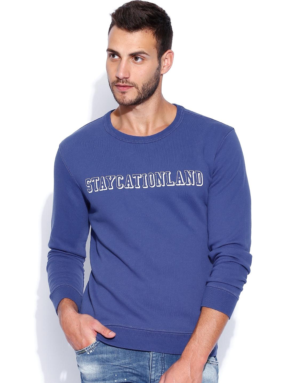 GANT Blue Staycationland Printed Sweatshirt