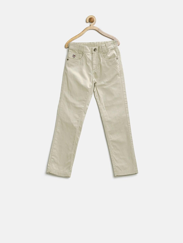 U.S. Polo Assn. Kids Boys Beige Chino Trousers