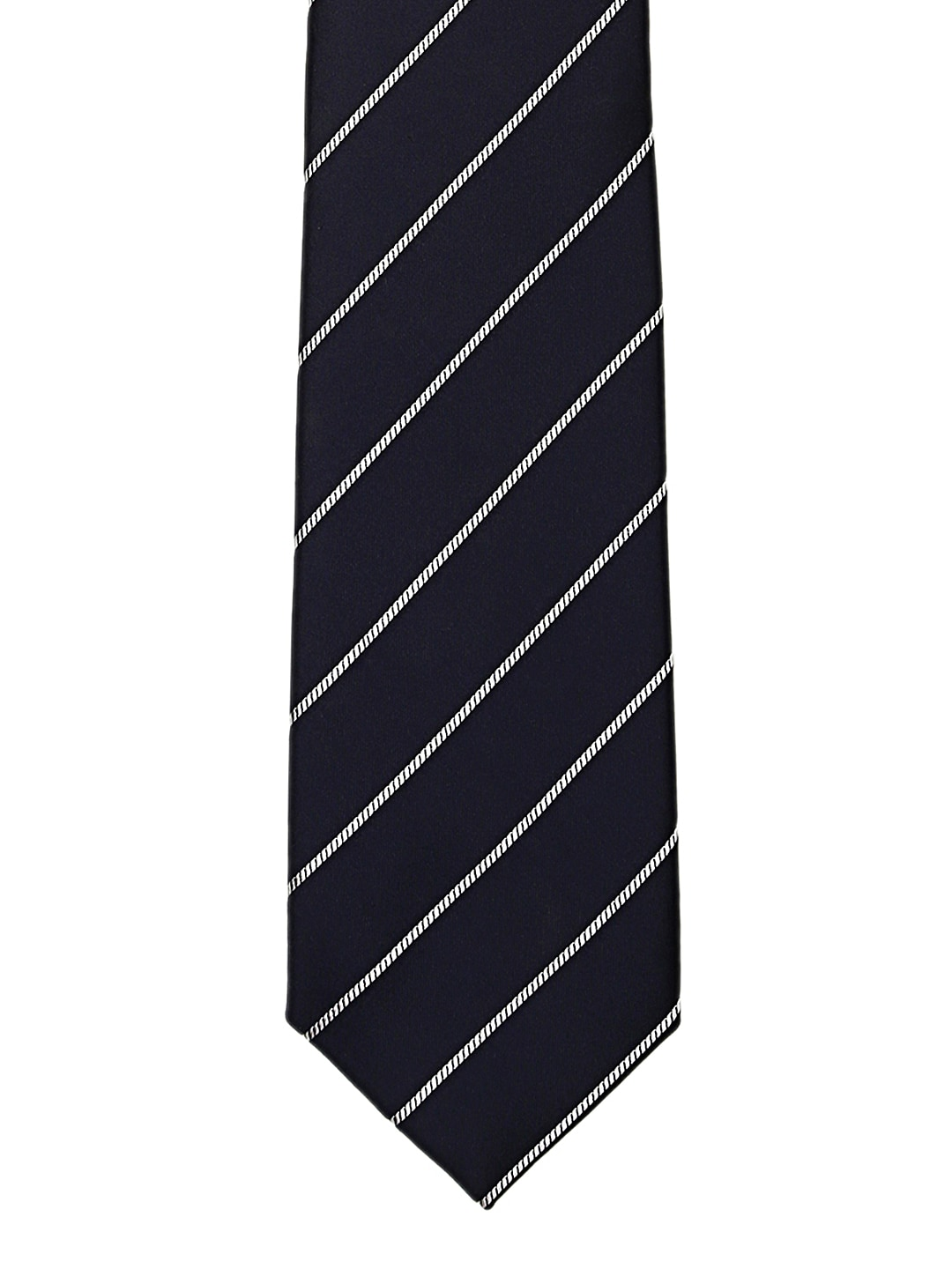 Tossido Navy & White Striped Tie