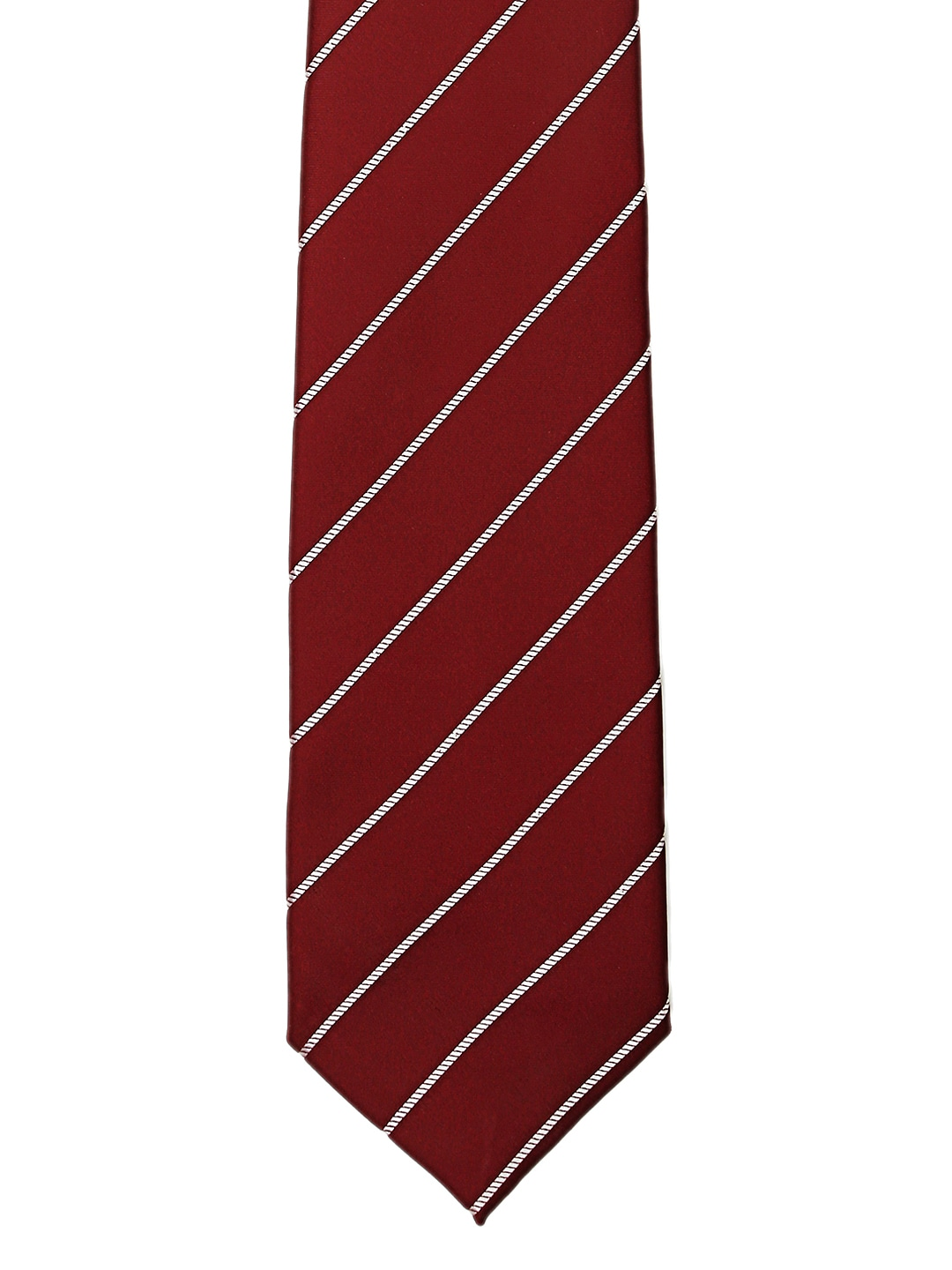 Tossido Maroon Striped Tie