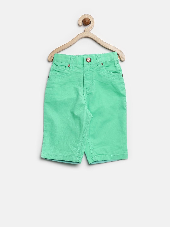 Gini And Jony Mint Girls Green 3/4th Shorts