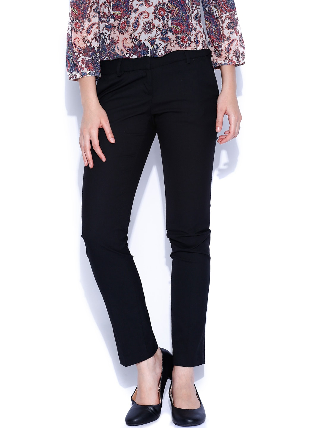 Arrow New York Women Black Formal Trousers