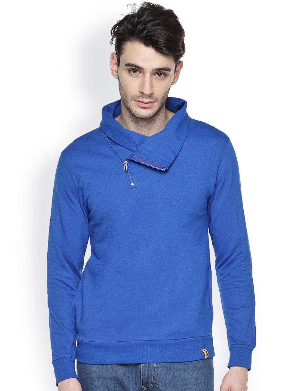 Campus Sutra Blue Sweatshirt