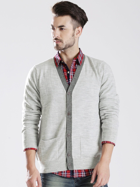 Nautica Grey Woollen Cardigan