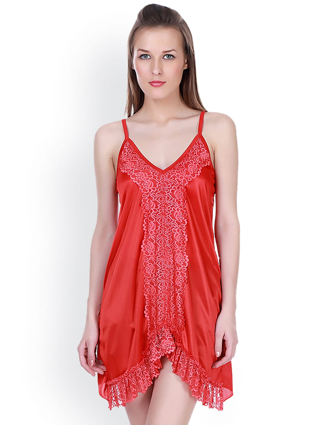 Claura Red Baby-Doll Nightdress CL-30