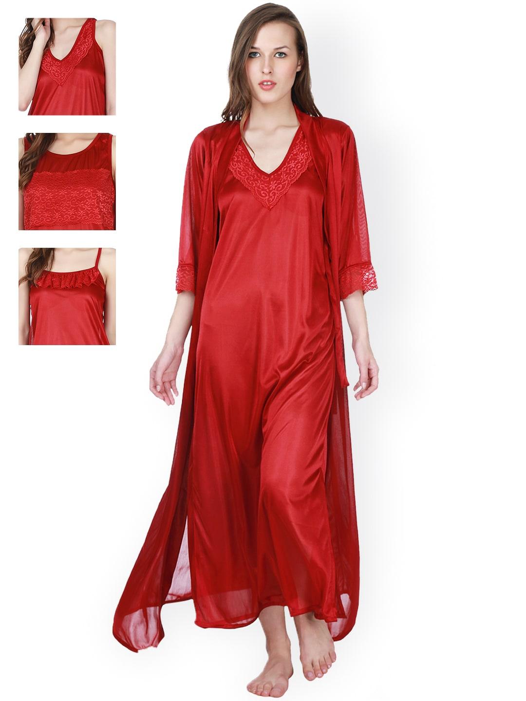 73b1adb591 Satin Loungewear And Nightwear - Buy Satin Loungewear And Nightwear online  in India