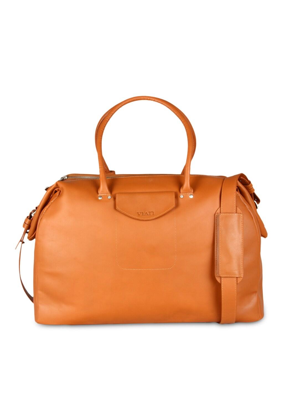 VIARI Tan Brown Leather Handbag