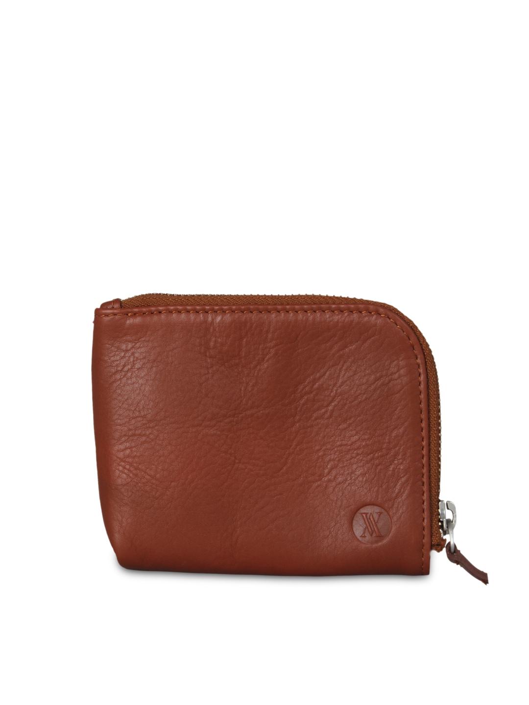 VIARI Men Tan Brown Leather Wallet
