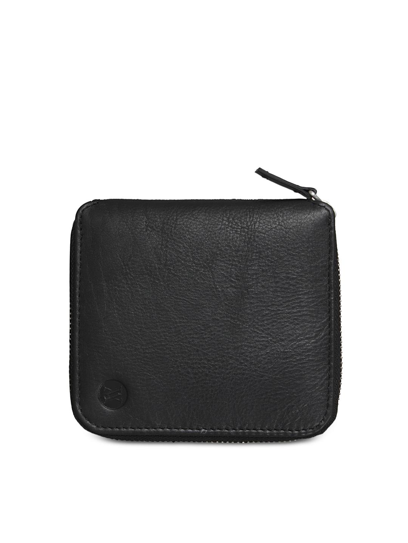 VIARI Men Black Leather Wallet