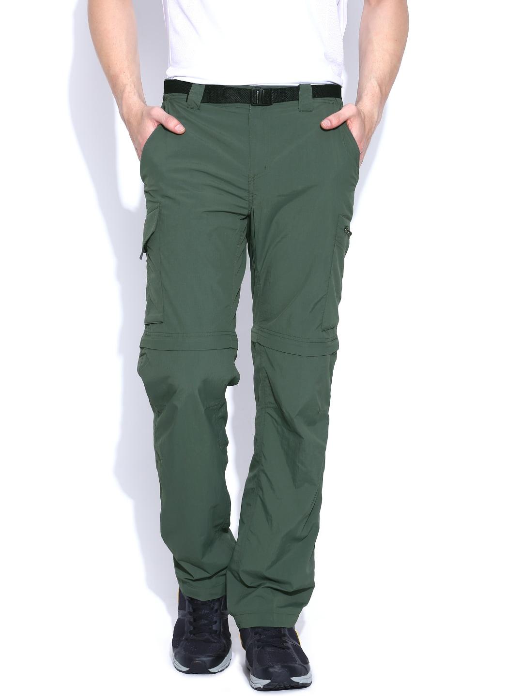 Columbia Olive Green Track Pants cum Shorts