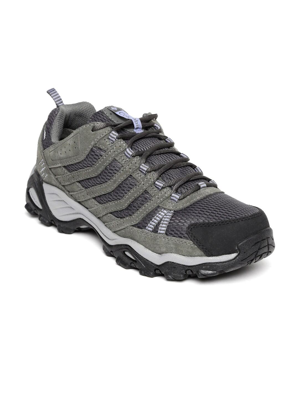 Columbia Women Grey & Olive Green Helvatia Waterproof Sports Shoes