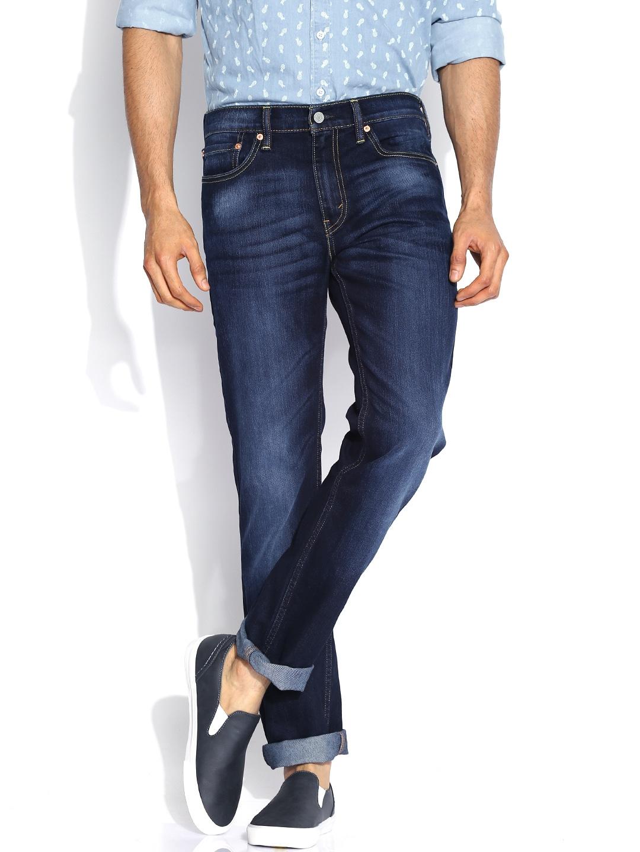 Levis Blue Low-Rise Slim Fit Jeans 511