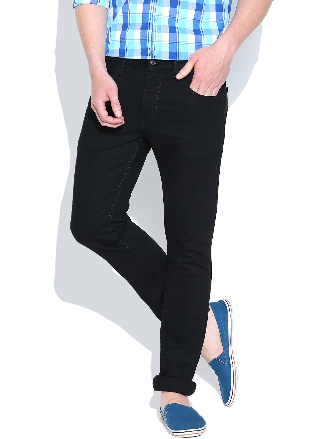 Levis Black Skinny Straight Fit Jeans 65504