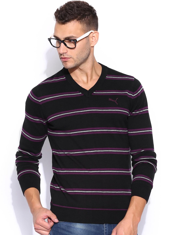 PUMA Black Striped Sweater