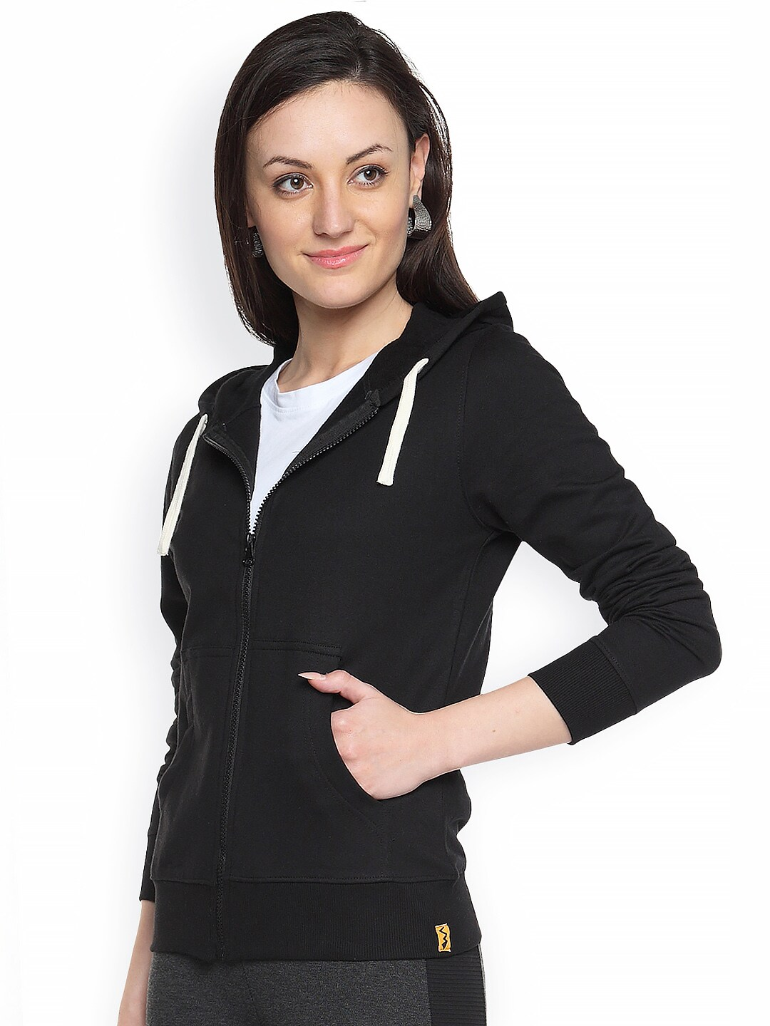 Campus Sutra Black Sweatshirt