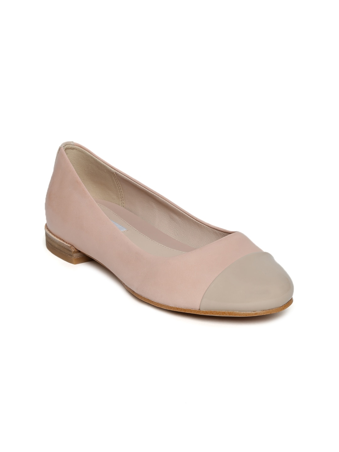 Clarks Women Dusty Pink Leather Ballerinas