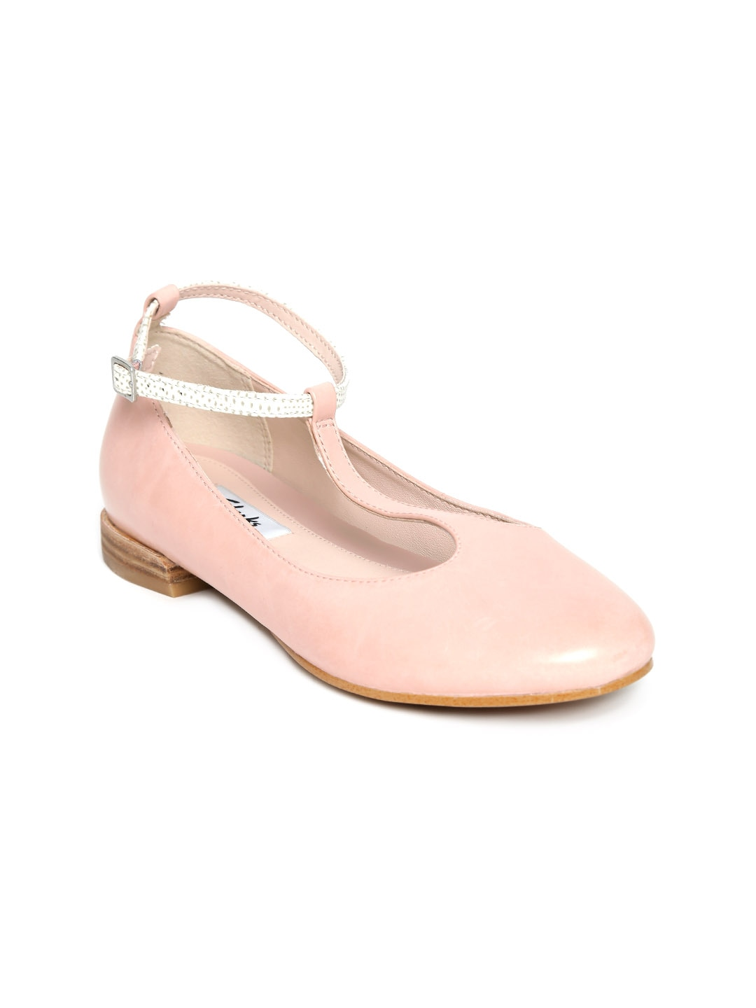 Clarks Women Pink Leather Flat Shoes